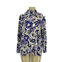 Croft Barrow Size 2X Women Pullover Top Long Sleeve Floral Print 19-5