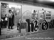 Lexington Ave. New York City Subway Covered in Graffiti - Historic Photo Print