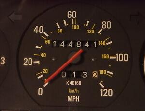 Volvo 240 Instrument Cluster K40168 For 1992 or 1993 Sedans.  144,841 miles