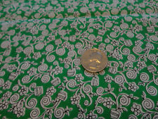 2 yds new cotton fabric Mildred's Memory Garden Grandma's Attic for Ssi green