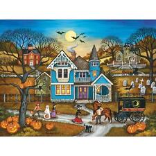 BONNIE WHITE HEARTLAND JIGSAW PUZZLE SPOOKED HALLOWEEN 500 PCS #30478