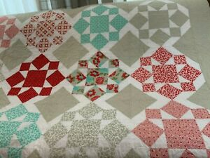 "Homemade Twin Size Quilt 70"" x 84"""