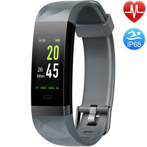 Letsfit Fitness Trackers with Heart Rate Monitor Waterproof Calorie Counter Ped