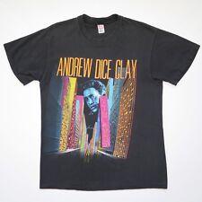 VINTAGE ANDREW DICE CLAY COMEDY TEE SHIRT LIVING LEGEND TOUR MEDIUM BLACK