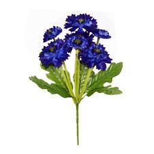 Artificial Cornflower Bouquet 7 Heads 36cm /14 Inches Dark Blue