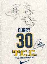 "STEPHEN CURRY 2009-2010 ""TCC"" TOWEL AUTO ROOKIE JSA CERTIFIED!  USED!?"