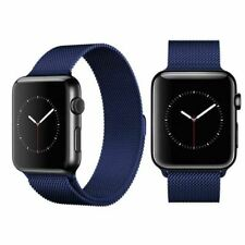 Milanese Loop Mesh Band for Apple Watch Strap 42 mm stainless steel Blue