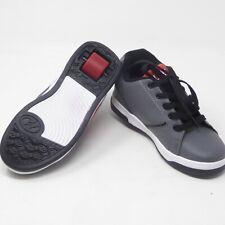 Heelys Propel Terry Logo Grey Red He100035 Wheeled Sz Youth 4 Lace Up Shoe