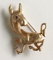 Vintage donkeyBrooch In gold tone  Metal