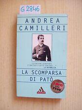 ANDREA CAMILLERI - LA SCOMPARSA DI PATO' - MONDADORI - 2000