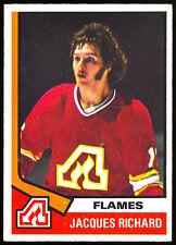 1974-75 OPC O PEE CHEE HOCKEY #139 JACQUES RICHARD NM ATLANTA FLAMES CARD