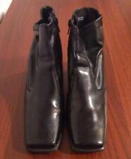 """Woman's Black Lauren Scott Boots """"Justine"""" Size 7M 1/2 - 2"""" wide heel"""