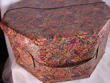 2 Vintage Hat Boxes Pretty Paisley Floral Nesting
