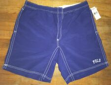 Polo Sport Ralph Lauren Trunks Board Shorts Blue Men's XL NWT Spell Out Nylon