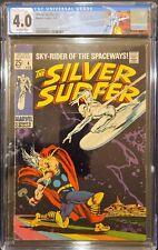 Silver Surfer #4 CGC 4.0 1969 Classic THOR VS SURFER Cover Custom Label