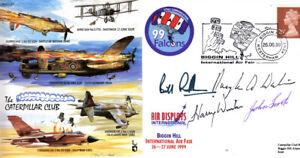 CC63 Biggin Hill RAF cover signed 4 WWII Caterpillar Club members inc FIRTH