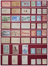 France Lot de 24 timbres perforés oblitérés