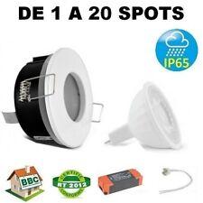 DE 1 A 20 SPOT ENCASTRABLE LED FIXE BLANC GU5.3 6W 12V BLANC CHAUD BBC RT2012