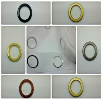 Curtain Eyelet Heading Tape + Round Eyelet Rings For Curtains Blinds All Colours