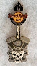 HARD ROCK CAFE HOLLYWOOD FL ENGINE COMING OUT OF SKULL GUITAR PIN # 57273