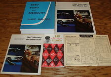 1967 Ford Mercury Shop Service Manual Sales Brochure Tune Up Chart 5 Piece Lot