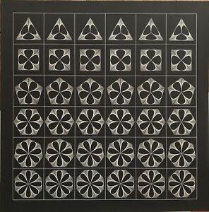 Angelo Giuseppe Bertolio serigrafia Forme Sequenza 70x70 firmata 1975