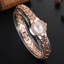 Ladies Fashion Soxy Quartz Rose Gold & Crystal Bracelet Band Wrist Watch.