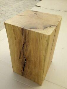 Holzblock grob geschlif. DekoSäule Stele Eiche Massivholz Stieleiche Nordvogesen