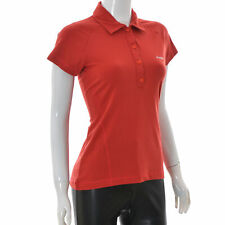 Peak Performance for Women Half Button Short Sleeve Polo T-Shirt Size M Red top