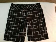 Women's Elle black & white shorts size 16
