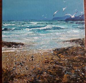 Original Painting by UK artist.  Surfs up, rough sea