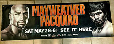 2015 Floyd Mayweather Jr. Manny Pacquiao Vinyl Boxing Promotion Banner 24 x 72