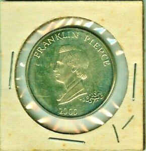 2000 REPUBLIC OF LIBERIA FIVE DOLLARS FRANKLIN PIERCE TONED