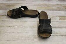 Clarks Leisa Grove Slide Sandals - Women's Size 6 W, Black