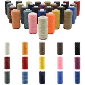50M 1mm Flat Waxed Sewing Line Waxed Thread Cord Craft Hand Stitching Thread