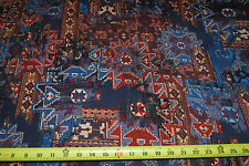 Rayon Stretch Jersey Knit FabricTribal Multicolor Print Teal /Rust /purple/Black