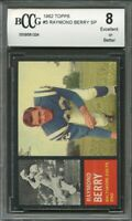 1962 topps #5 RAYMOND BERRY SP baltimore colts BGS BCCG 8