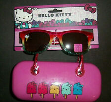 Kids Girls HELLO KITTY Sunglasses and Carrying Case Set Age 3+