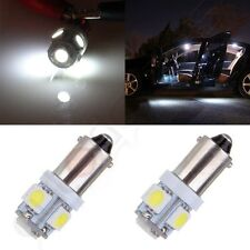 2Pcs  Super Bright T11 BA9S 5050 SMD 5 LED Car Light Bulb Lamp 12V White