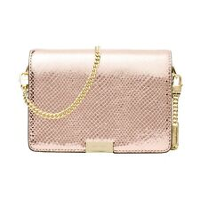 NWT Michael Kors Jade Medium MD Gusset Embossed Leather Clutch Soft Pink $248