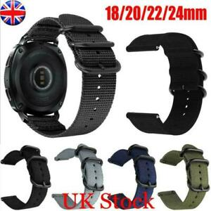 Nylon Watch Strap 18-24mm Soft Woven Canvas Watch Band Sport Strap Quick Release