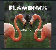 St Vincent & The Grenadines 2015 MNH Flamingos 2v S/S II Birds Flamingo