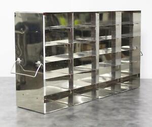Laboratory Upright Stainless Steel Freezer Rack for 24 freezer Boxes w/ Warranty