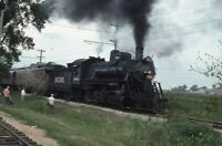 FRISCO 1630 Railroad Steam Engine Locomotive UNION IL Original 1976 Photo Slide