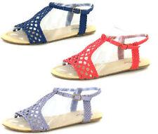 Sandali e scarpe casual blu Spot On per il mare da donna