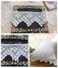 """5""""*1Y Vintage Hand Crochet Lace Trim~White~Cotton~Diamond Side~For DIY~SALE~"""