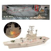 ARMY  MILITARY AIRCRAFT CARRIER WITH FIGHTER PLANES JETS SOUNDS LIGHTS SHIP