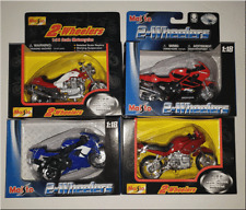 MAISTO 1:18 DIE CAST MOTORCYCLE REPLICA 4 PIECE SET HONDA,YAMAHA,BMW, MOTO GUZZI