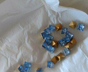 TWO Packs Vintage Swarovski Light Sapphire 4400 8 MM Mint Packs