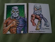 METAMORPHO HAND DRAWN COLOUR SKETCH ART CARD BY RAK DC COMICS MARVEL PSC ACEO